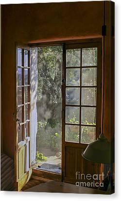 Open Door With Sunligh Canvas Print by Patricia Hofmeester