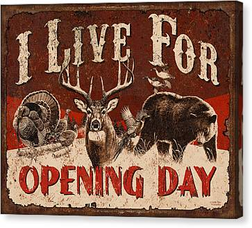 Opening Day Sign Canvas Print by JQ Licensing