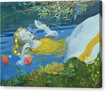 Ophelia Canvas Print by William Ireland
