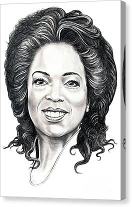 Oprah Winfrey  Canvas Print by Murphy Elliott