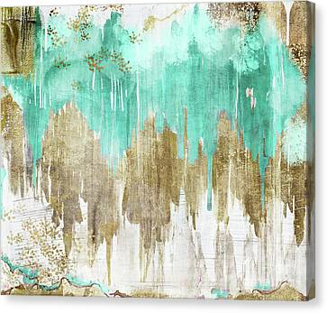 Opulence Turquoise Canvas Print by Mindy Sommers