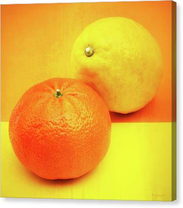 Orange And Lemon Canvas Print by Wim Lanclus