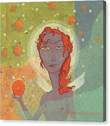 Orange Angel 4 Canvas Print by Dennis Wunsch
