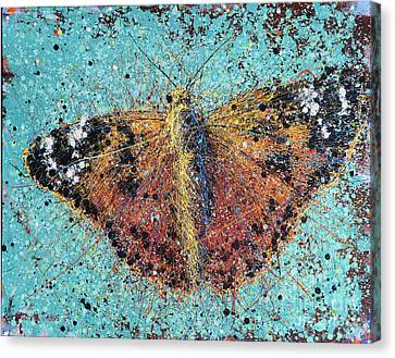 Orange Butterfly Canvas Print by Michael Glass