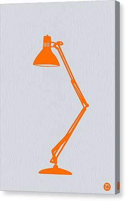 Orange Lamp Canvas Print by Naxart Studio