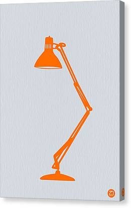 Orange Lamp Canvas Print by Naxart Studio