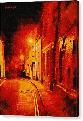 Orange Night - Pa Canvas Print by Leonardo Digenio