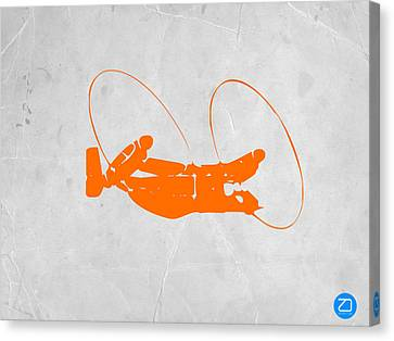 Orange Plane Canvas Print by Naxart Studio