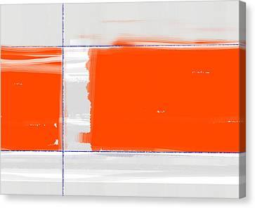 Orange Rectangle Canvas Print by Naxart Studio