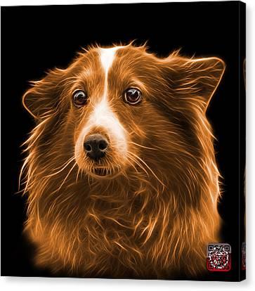 Orange Shetland Sheepdog Dog Art 9973 - Bb Canvas Print by James Ahn