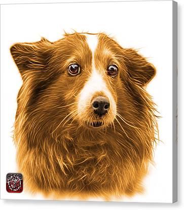 Orange Shetland Sheepdog Dog Art 9973 - Wb Canvas Print by James Ahn