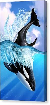 Orca 2 Canvas Print by Jerry LoFaro