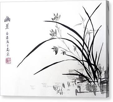 Orchid Nobility Canvas Print by Birgit Moldenhauer