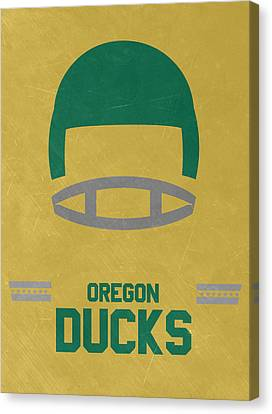 Oregon Ducks Vintage Football Art Canvas Print by Joe Hamilton