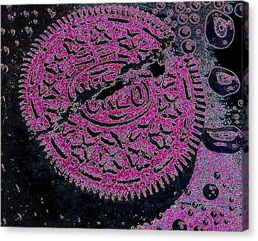 Oreo In Pink Canvas Print by Nancy Mueller