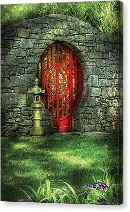 Orient - Door - The Moon Gate Canvas Print by Mike Savad