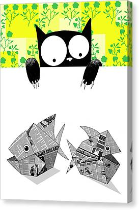 Origami Fish Canvas Print by Andrew Hitchen