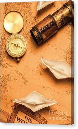 Origami Paper Boats On A Voyage Of Exploration Canvas Print by Jorgo Photography - Wall Art Gallery