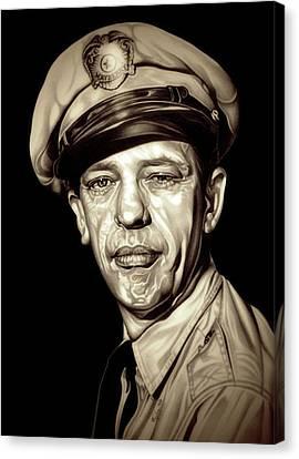 Original Barney Fife Canvas Print by Fred Larucci