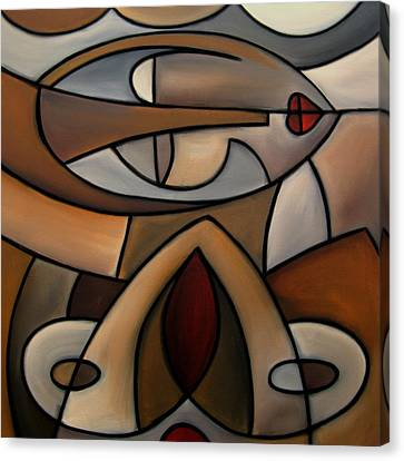 Original Cubist Art Painting - Mama Canvas Print by Tom Fedro - Fidostudio