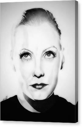 Original Greta Garbo Canvas Print by Fred Larucci