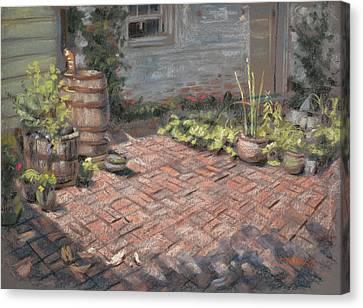 Original Kitchen Canvas Print by Christopher Reid