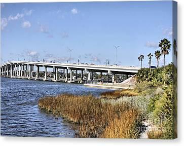 Ormond Beach Bridge Canvas Print by Deborah Benoit