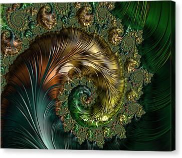Ornamental Shell Abstract Canvas Print by Georgiana Romanovna