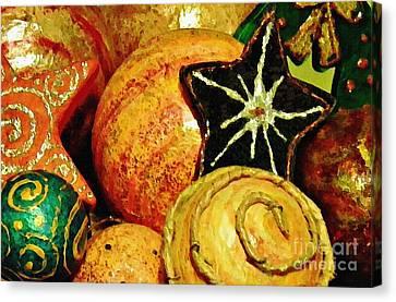 Ornaments 2 Canvas Print by Sarah Loft