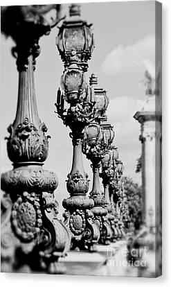 Ornate Paris Street Lamp Canvas Print by Ivy Ho