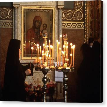 Orthodox Church Georgia Nuns Lighting Prayer Candles Photograph By Richard Si