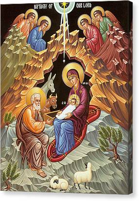 Orthodox Nativity Scene Canvas Print by Munir Alawi