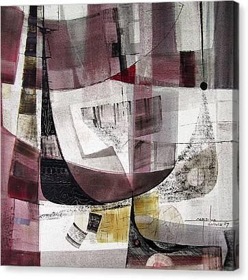 Os1957bo004 Abstract Landscape Of Potosi Bolivia 22 X 22 Canvas Print by Alfredo Da Silva