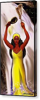 Oshun  Canvas Print by Carmen Cordova
