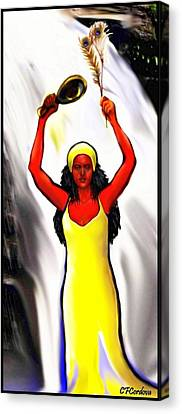 Oshun -goddess Of Love -4 Canvas Print by Carmen Cordova