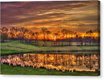 Other Worldly Sunrise Reflections   Canvas Print by Reid Callaway
