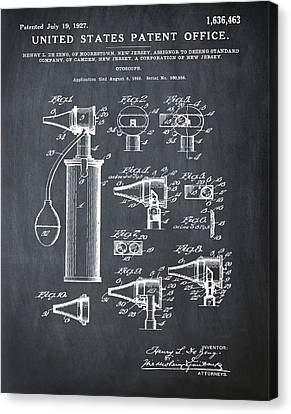 Otoscope Patent 1927 Chalk Canvas Print by Bill Cannon
