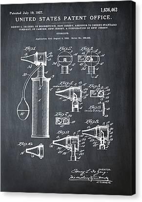 Otoscope Patent 1927 Chalk Canvas Print by Bill Cannon