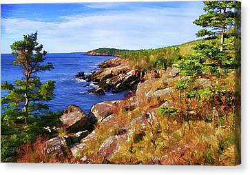 Otter Point Trail Canvas Print by Bill Caldwell - ABeautifulSky Photography