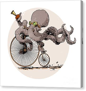 Otto's Sweet Ride Canvas Print by Brian Kesinger