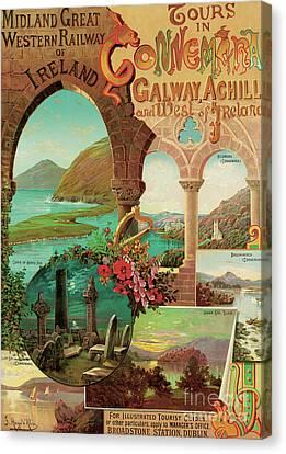 ours in Connemara, Midland Great Western Railway of Ireland Canvas Print by Hugo d'Alesi