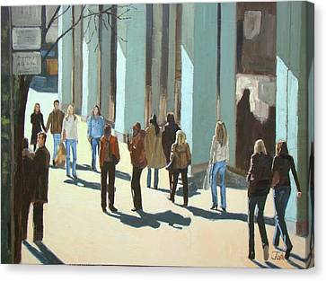 Out For A Walk With Shadows Number Two Canvas Print by Tate Hamilton