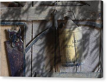 Out In The Barn Canvas Print by Tom Mc Nemar