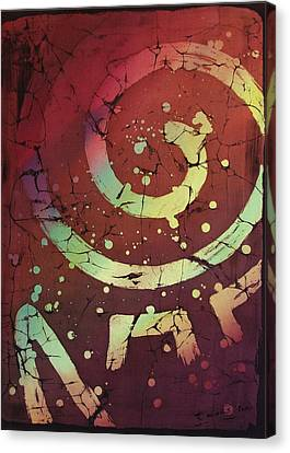 Out Of The Reds No.4 By Enialis Canvas Print by Enialis Best Silk