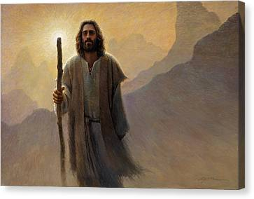 Out Of The Wilderness Canvas Print by Greg Olsen