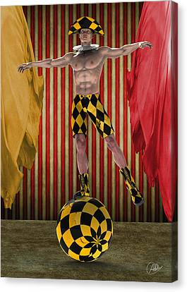Outdated Circus Canvas Print by Quim Abella