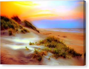 Obx Canvas Print featuring the painting Outer Banks Soft Dune Sunrise Ap by Dan Carmichael