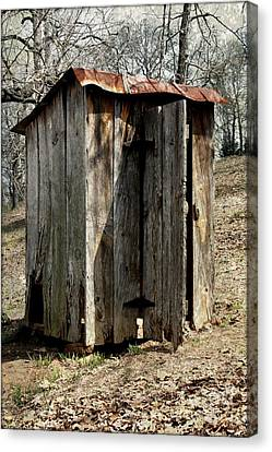 Outhouse Canvas Print by Gayle Johnson