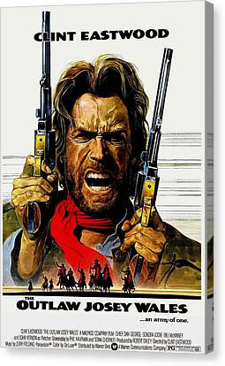 Outlaw Josey Wales The Canvas Print by Movie Poster Prints