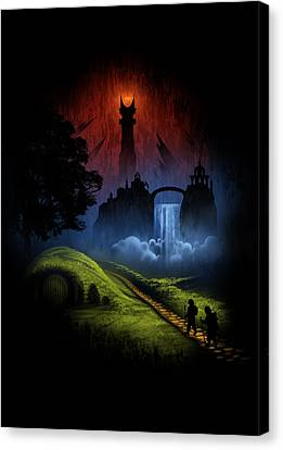 Over The Hill Canvas Print by Alyn Spiller